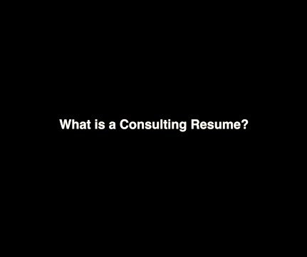 Accenture and Resumes - Management Consulting Connection
